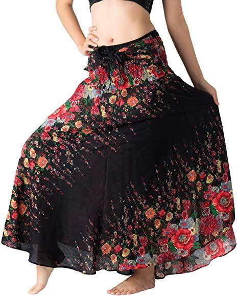 Women green hippie boho pants  Cotton plus size festival trouser  Bohemian party loose skirt for dance