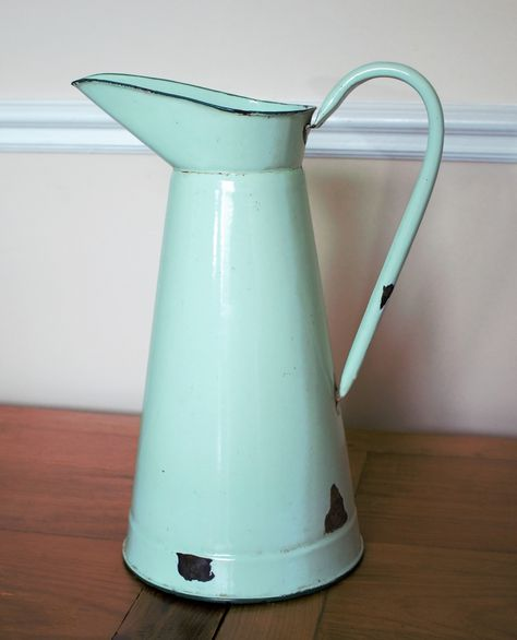 French Enameled Jug - Perfect For Weddings Etc