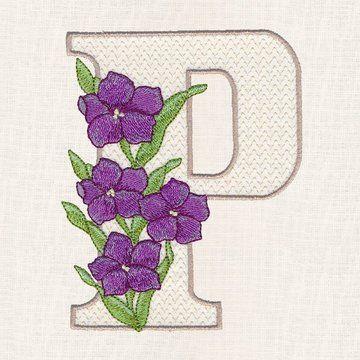Buchstabe Letter P Blumen Buchstaben Blumen Bunte Blumen