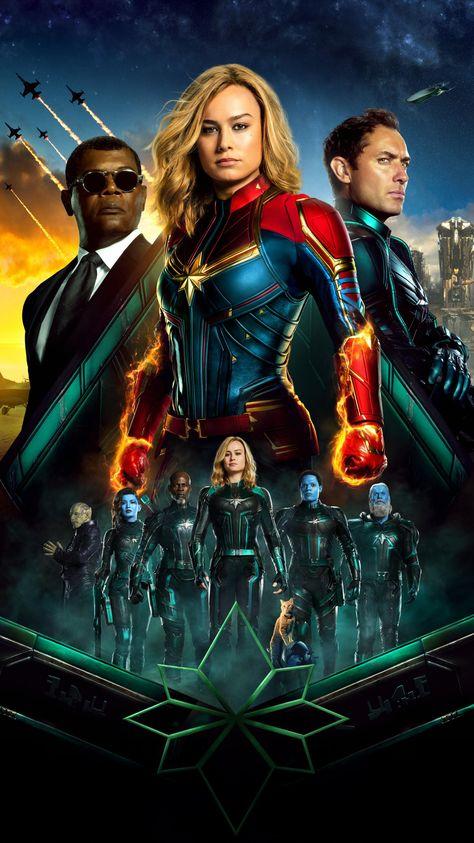 Captain Marvel (2019) Phone Wallpaper | Moviemania