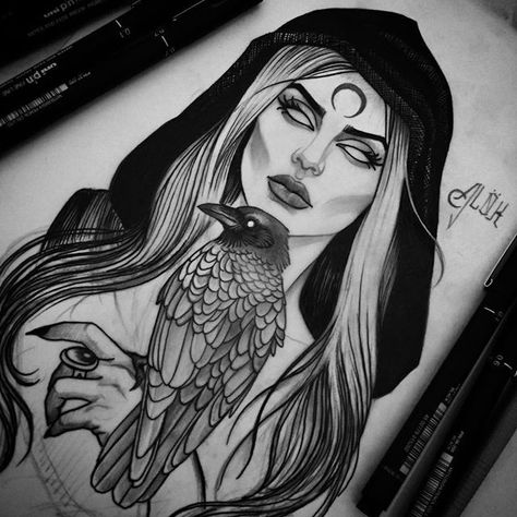 Carina Alok в Instagram: «🌑Morrigan in progress... 🌘Para agendamentos e ... - #agendamentos #Alok #Carina #Instagram #Morrigan #PARA #Progress #в