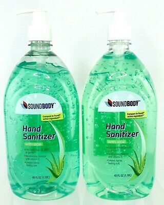 Soundbody With Aloe Hand Sanitizer Compare To Purell 40oz Kill 99