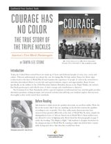 Examine the experience of America's first black paratroopers during World War II through discussion questions, writing prompts, and research activities for Courage Has No Color by Tanya Stone. #CCSS #InformationalText #NonFiction #WWII #middlegrade #yalit
