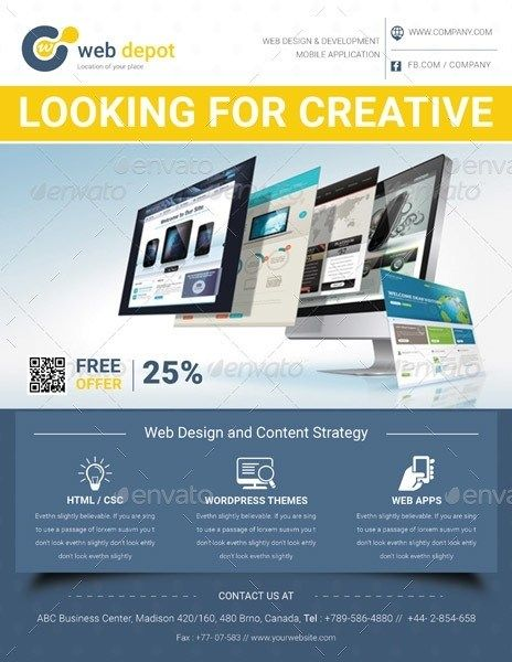 19 Web Design Flyer Templates For Web Designers And In 2020 Web Design Flyer Design Web Template Design