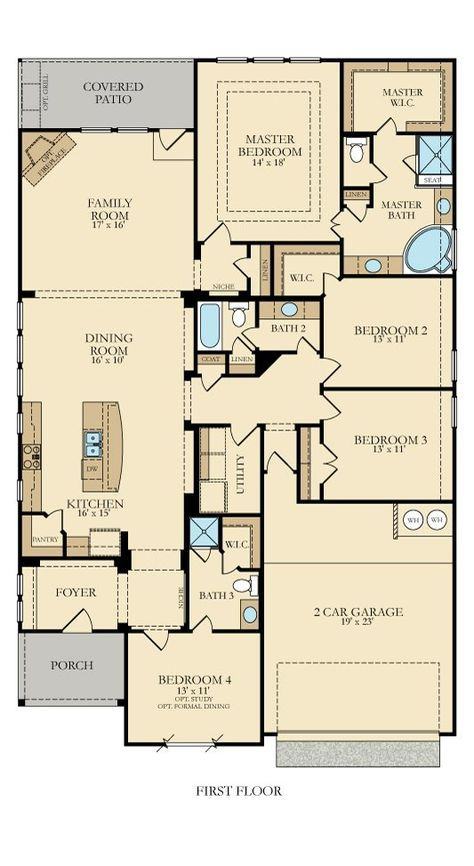 Reasonable Floor Plan For A Baby Boomer Lennar Rectangle House Plans New House Plans Narrow House Plans