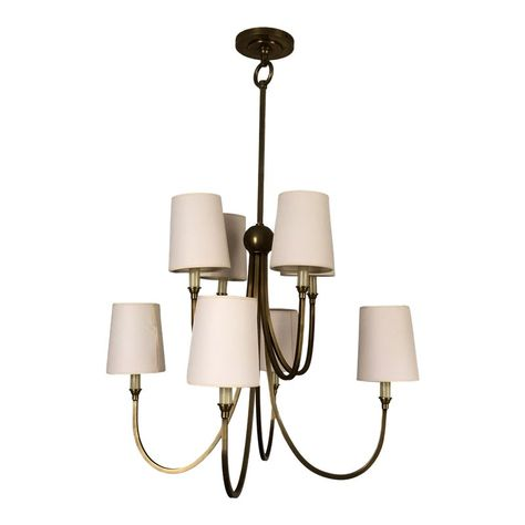 Visual Comfort Reed Small Chandelier with Natural Paper