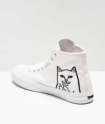 c4e06f6772f RIPNDIP Lord Nermal White Hi-Top Shoes | Shoes | Shoes, Top shoes ...