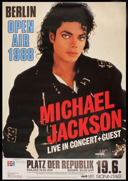 Michael Jackson Original Concert Poster | Music in 2019 | Michael
