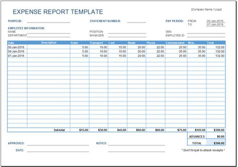 Microsoft Office Expense Report Template Pleasing Free Expense Report Template  Report Template  Pinterest .