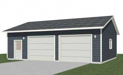 Truck Sized 2 Car Garage With Extra Space Plan 952 11 34 X 28 By Behm Designs Providing A Wide Collection Garage Shop Plans 2 Car Garage Plans Space Planning
