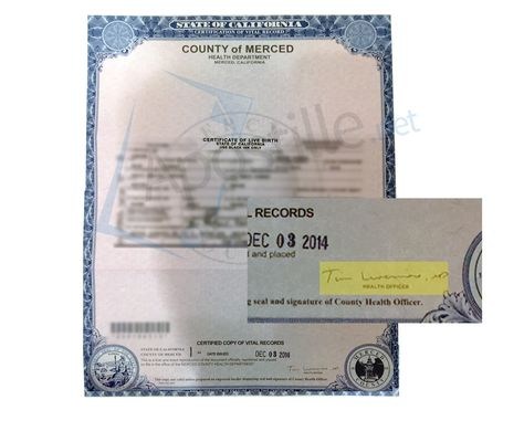 Sacramento Certificate of live Birth ready for apostille | State of ...