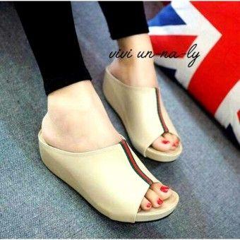 Shop Online Marlee Dk 10 Wedges Sandal Wanita Creamkualitas