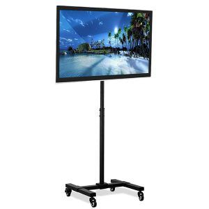 Top 10 Best Rolling Tv Stands For Flat Screen 2021 Reviews Guides Tv Stand On Wheels Mobile Tv Stand Outdoor Tv Stand Tv stand for flat screen