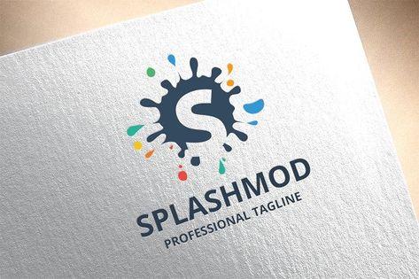 Letter S - Splashmod Logo by tkent on @creativemarket
