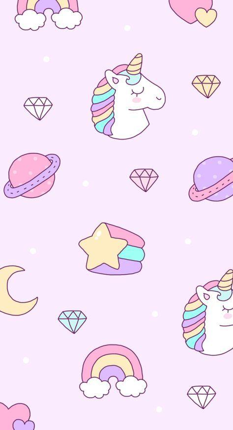 Unicorn Wallpaper Iphone Tumblr Backgrounds 32 Ideas Gambar Unicorn Gambar Kawaii Unikorn