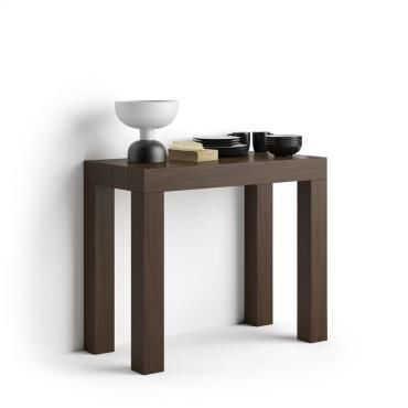 Tavolo Consolle Allungabile Conforama.Table Console Effet Bois Noyer De 90 X 45 X 76 Cm Extensible
