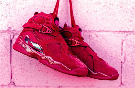 check out 9b606 f9ba2 valentines-day-air-jordan-8-retro-red-suede-8 | shoes ...