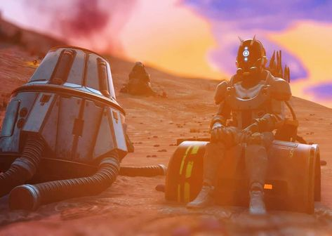 Stranded pilot No Man's Sky on PS4 •  nms  nomansskybeyond  nomanssky  beyond  korvax  sunset  gaming  gamephotography  virtualphotography  ps4