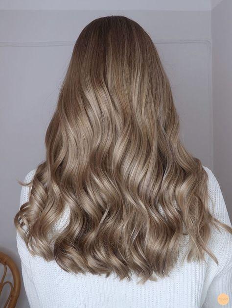 Balayage blond beige - Peach Stockholm