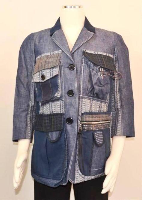 Desigual Damen Designer Jeans Mantel spanische Größe 46 DE