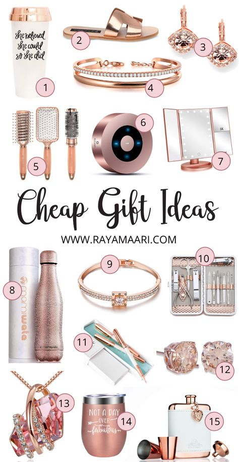 60 Cheap And Affordable Christmas Gift Ideas For Her - - An ultimate Christmas gift guide that lists Christmas gifts ideas for her. Find the most stylish, cheap and affordable Christmas gifts for the year Fun Christmas, Inexpensive Christmas Gifts, Christmas Gifts For Girlfriend, Christmas Gifts For Friends, Teacher Christmas Gifts, Christmas Gift Guide, Present Ideas For Girlfriend, Birthday Present Ideas For Sister, Christmas Present Ideas For Mom