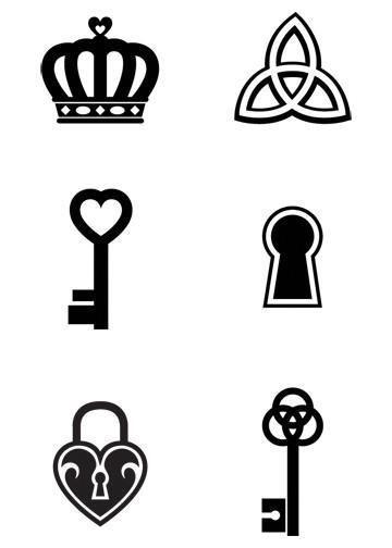 Mini Black Temporary Tattoos Group 6 #tattooremovalcost