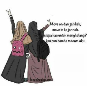 Wanita Berhijab Animasi Gambar Kartun Muslimah