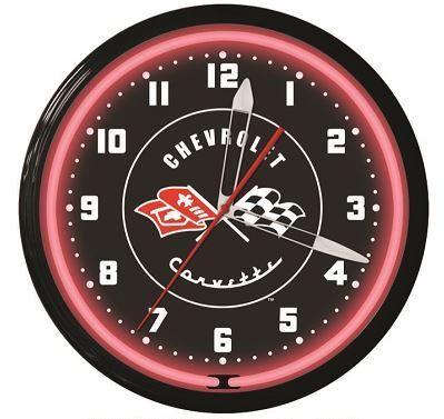 Corvette Neon Clock How To Make Wall Clock Clock Wall Clock