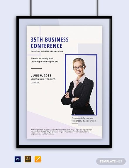 Business Conference Poster Template In 2020 Conference Poster Template Conference Poster Poster Template