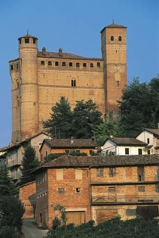 Photographic Print: Serralunga D'Alba Castle, 14th Century, Langhe, Piedmont, Italy : 24x16in