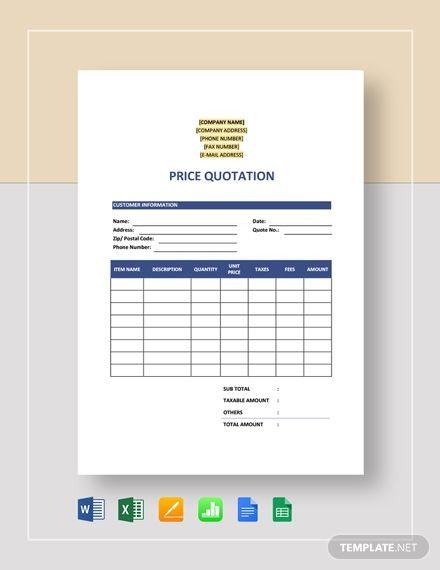 Free Sample Quotation Quotations Quotation Sample Quotation Format
