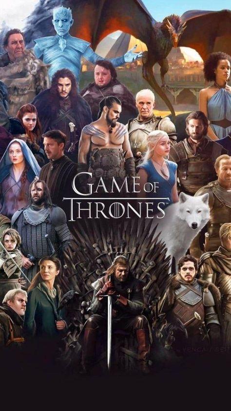 Juego de Tronos Collage. La serie de HBO se ha convertido en la serie más laureada de la historia.