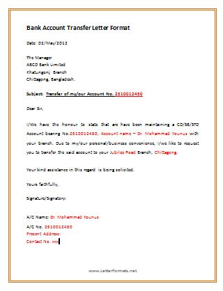 business bank account closure letter sample cover templates for ...