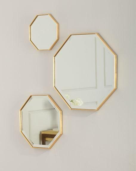 Octagon Wall Mirrors Set Of 3 Wall Decor Bedroom Wall Mirrors Set Mirror Wall Decor