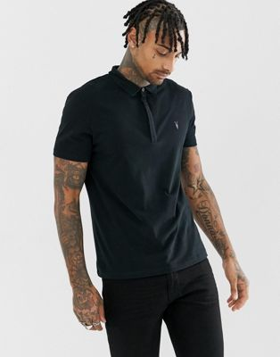 AllSaints | AllSaints polo shirt with branding | Polo shirt
