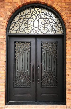 Wrought Iron Door With Images Wrought Iron Doors Wrought Iron