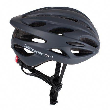 Retrospec Cm 3 Bike Helmet With Led Safety Light Adjustable Dial And 24 Vents Walmart Com In 2020 Bike Helmet Bike Riding Benefits Bike Seat