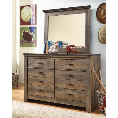 Signature Design By Ashley Trinell 6 Drawer Dresser With Optional