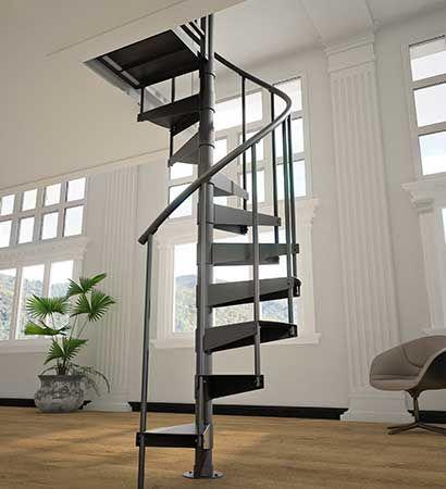 10 Ft Prefab Metal Spiral Stair Kit The Mason Diy Interior Stair | 10 Ft Spiral Staircase | Handrail | 36 Tall | Arke Phoenix | Stair Kit | Arke Enduro