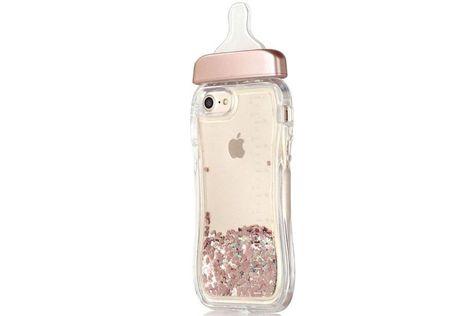 Rose Gold Baby Bottle Glitter Phone Case