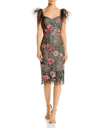 Bronx And Banco Melia Floral Embroidered Illusion Dress Multi Dresses Illusion Dress Fashion Beauty