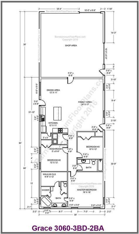 This Is Perfect Use Mirror Image And Bedroom 2 Converts To Mud Room Safe Room Pantry House Plan With Loft Barn Style House Barn Style House Plans