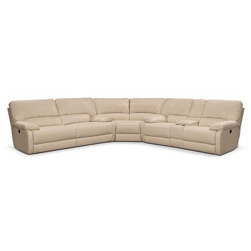 Coronado Leather 3 Pc Reclining Sectional Value City Furniture 2 199 99 Onlinevcf House Ideas Pinterest