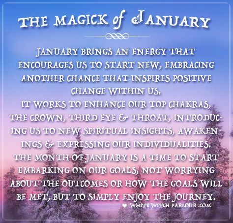 january, magick, month, meaning, symbolism, wicca, spells