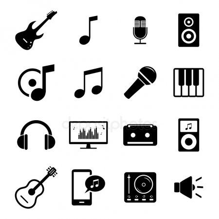Collection Of Flat Media Icons Audio Musical Instruments And Sound Related Sy Spon Icons Audio Media Collection Ad Icon Symbols Media Icon