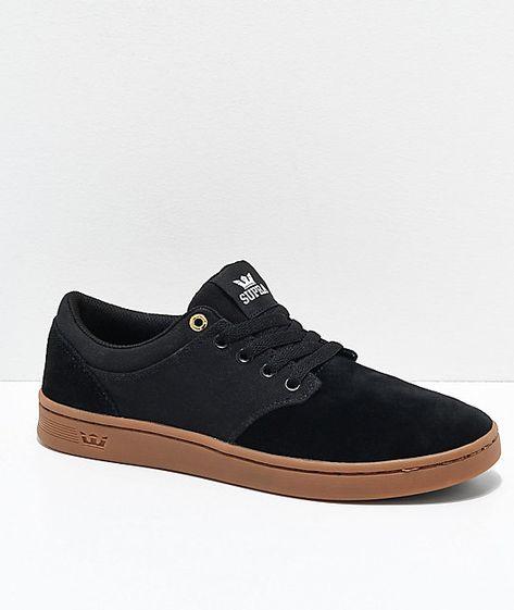 Supra Chino Court Black Gum Skate Shoes Zumiez Supra Shoes Skate Shoes Chino Shoes