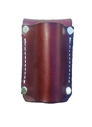 Leather Flashlight Holster For Aa Battery Flashlights Heavyduty Made In Usa Dark Brown Snap With Images Holster Leather Flashlight