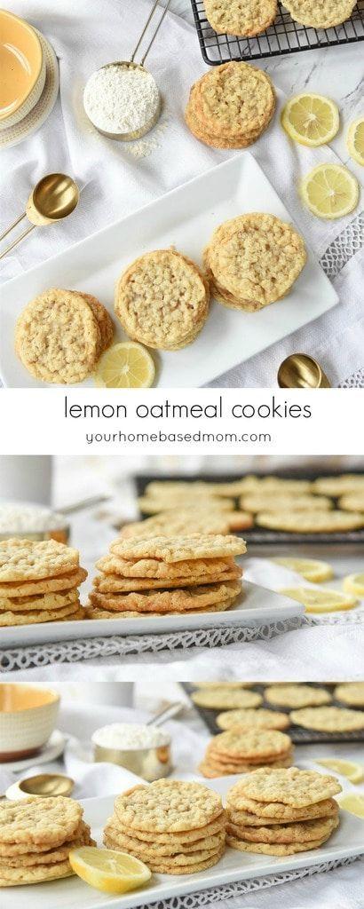 Lemon Oatmeal Cookies Recipe Lemon Recipes Food Dessert Recipes