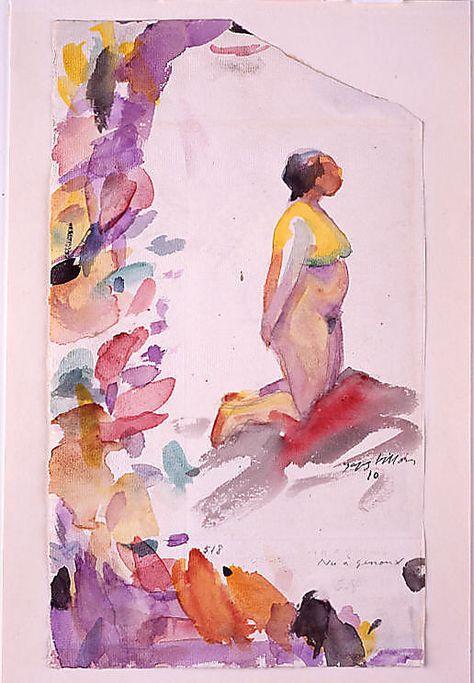 Kneeling Nude (Nu à genoux)  Jacques Villon (French, Damville 1875–1963 Puteaux)