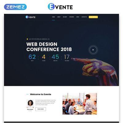 Evente Web Design Conference Landing Page Template Conference Design Web Design Web Template Design